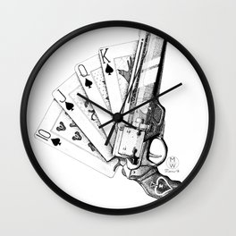 The Ace of Spades Wall Clock
