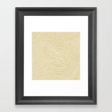Ocean depth map - sand Framed Art Print