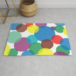 Colorful circles and bubbles Rug