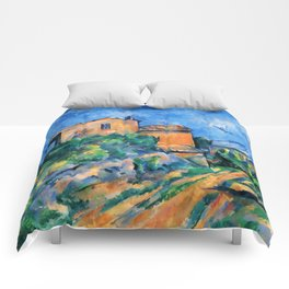 "Paul Cezanne ""Maison Maria with a View of Chateau Noir"" Comforters"