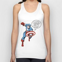 steve rogers Tank Tops featuring Steve Rogers - The Straight Man by tangofox