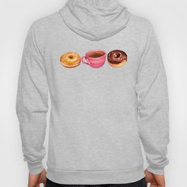 Coffee & Donuts Pattern Hoody
