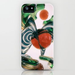 Marbled Tangerine iPhone Case