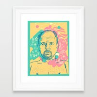 louis ck Framed Art Prints featuring Louis CK by chyworks