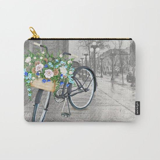 Black bike & street sketch Carry-All Pouch