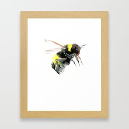 Bumblebee, bee art flying bee design honey bee wildlife Framed Art Print