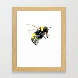 Bumblebee, bee art flying bee design honey bee wildlife Framed Art Print