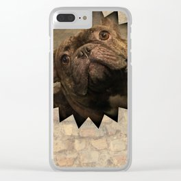 bully on the wall Clear iPhone Case