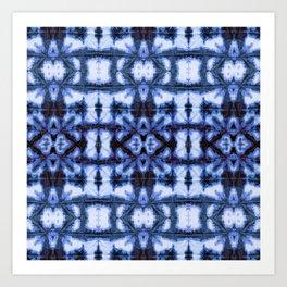 Blue Oxford Shibori Art Print
