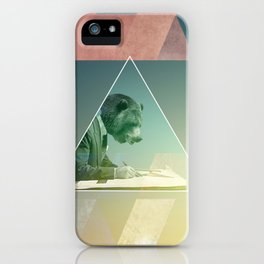 Bear script iPhone Case
