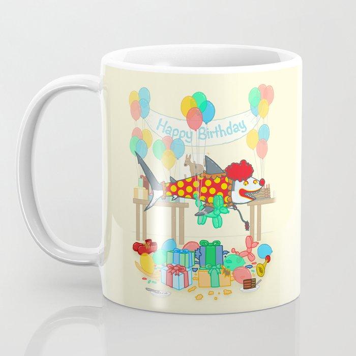 The Birthday Party Clown Shark Coffee Mug