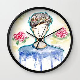 Phil Lester - Flowers Wall Clock
