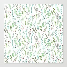 Small leaves print Canvas Print