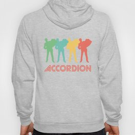 Accordion Player Retro Pop Art Graphic Hoody