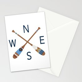Oar Compass Stationery Cards