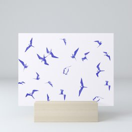 Blue seabirds by #Bizzartino Mini Art Print