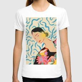 SMILING WOMAN AND SUNSHINE T-shirt