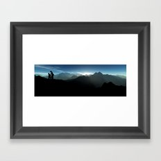 Sunrise Hiking Framed Art Print