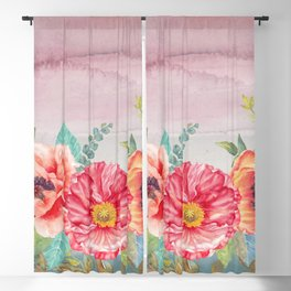 Flowers bouquet 74 Blackout Curtain