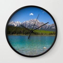 Pyramid Mountain at Patricia Lake Wall Clock