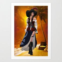 Calipso 4 Art Print