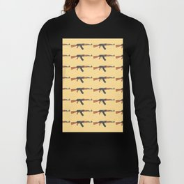 ak47 pattern logo Long Sleeve T-shirt