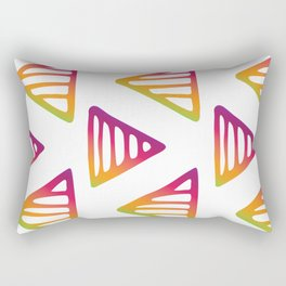 Colour Pop Triangles Purple and Green Rectangular Pillow