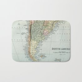 Vintage Map of the South of America Bath Mat