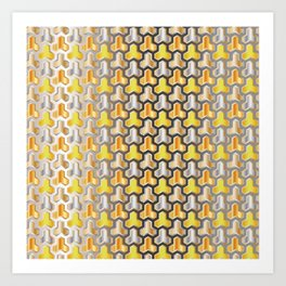 Traditional Japanese pattern BISHAMON-KIKKO Art Print