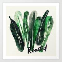 Roasted Kale | 100 Days of Cookbook Spots Art Print