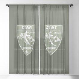 Stowe Vermont Sheer Curtain