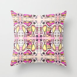 Pink Slime Meat Lover Throw Pillow