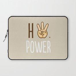 HiiiPower (w/text) : Pale Laptop Sleeve