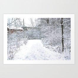 Snowfall at Brickworks on Christmas Day, 2020. LXXXVII Art Print