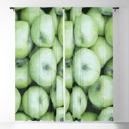 Green apples Blackout Curtain