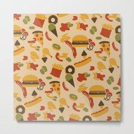 Fast Foodouflage Metal Print