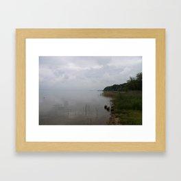 Moody Morning At The Lake Framed Art Print