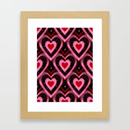 Heavenly Hearts - Valentines Day Framed Art Print