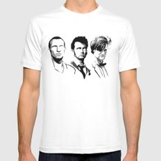 The Doctor White Mens Fitted Tee MEDIUM