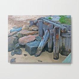 Wellfleet Pier Support Metal Print