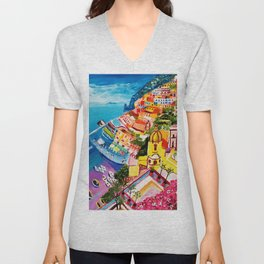 Beautiful Vernazza Unisex V-Neck