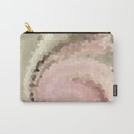 Multicolored mosaic in pink and grey tones . Carry-All Pouch