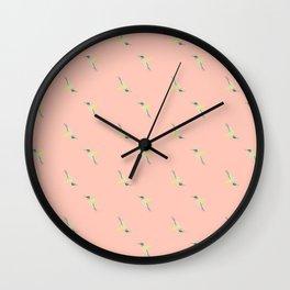 Hummingbird Pattern Wall Clock