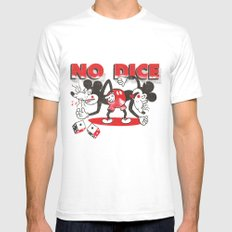 No Dice LARGE Mens Fitted Tee White