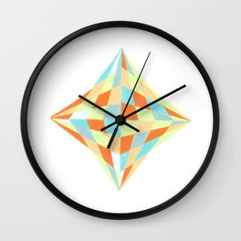 Polygonal art geometry Close up Wall Clock
