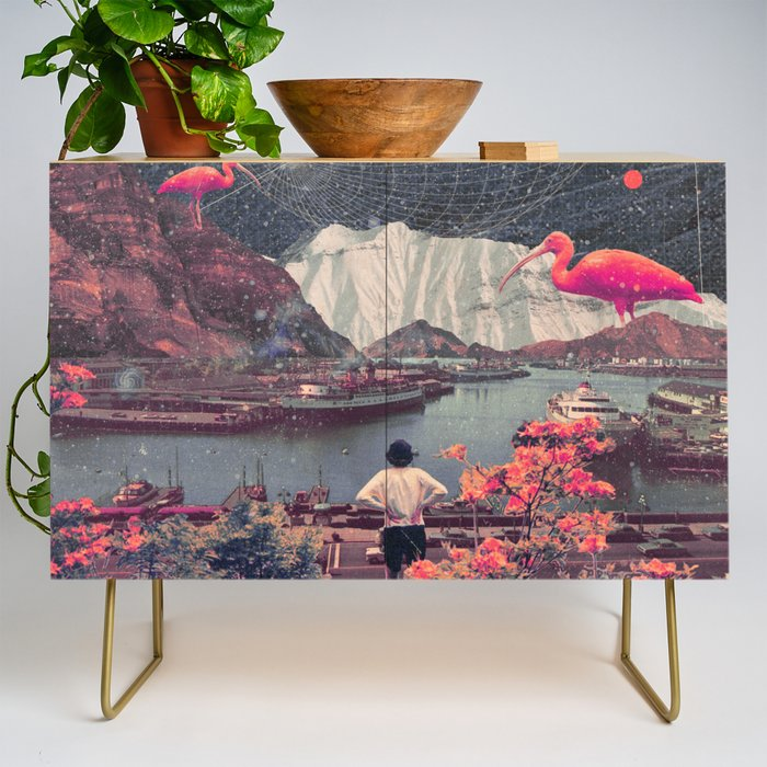 My Choices left me Alone Credenza