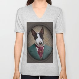Bull Terrier Dog - Magnum Unisex V-Neck