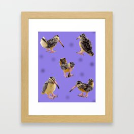 Purple Polka-Dotted Peents Framed Art Print