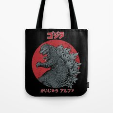 Gojira Kaiju Alpha Tote Bag