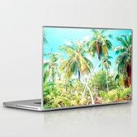 cuba Laptop & iPad Skins featuring Cuba , Palmeras ( Cuba palms ) by arnedayan